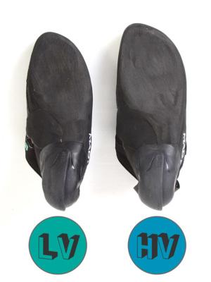 LV(左)とHV(右) のボリュームの違い。LVはUS6(24.0)、HVはUS7(24.8)。