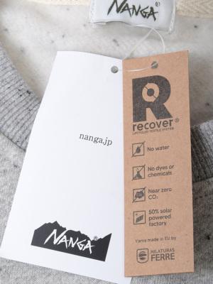 リサイクル素材を使用したエコフレンドリーなRECOVER YARN素材を使用。